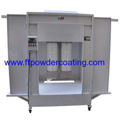 Manual Powder Coating Booth with Tracks Cartridge Filter Recovery System