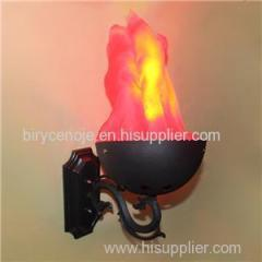 10W SMALL-CURVE ARTIFICIAL WALL MOUNTED SILK FLAME LIGHT
