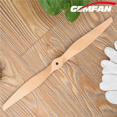 wood color 17x6 inch 2 Blade Electric Wooden RC Airplane Props
