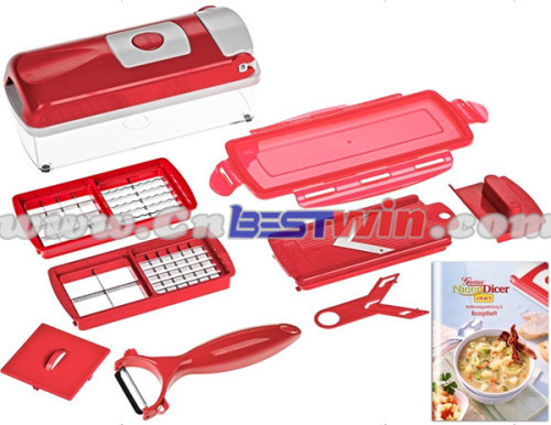 2015 Factory new design red nicer dicer with good quality