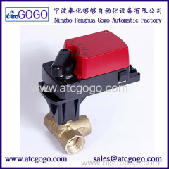 2 way & 3 way 0-10v proportional motorized control ball valve for water flow system