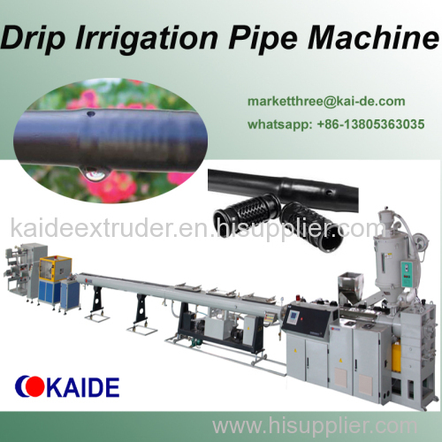 Drip lateral pipe making machine supplier