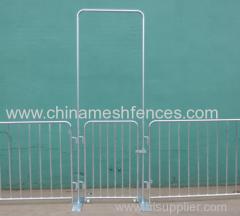Barricadas Pedestre Aço portátil Flatbase