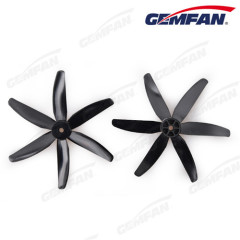 Gemfan 6 Blades 5x4 inch Bullnose PC Orange Green Black Propellers