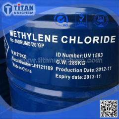 Methylene Chloride 99.9% CAS 75-09-2 Dichloromethane Industry grade