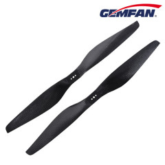 15x5.5 inch 2 blades T-type carbon fiber airplane prop for sale