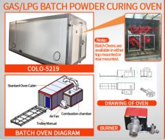 GAS /LPG /Diesel Batch Industrial Powder Curing Oven With Trolley