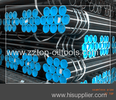 Casing and tubing of seamless pipe