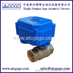 Timing mode and countdown mode MINI auto drain motorized ball valve for air compressor & water treatment works