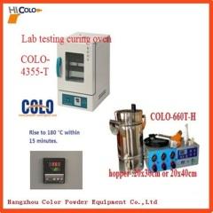 Lab testing powder coating oven