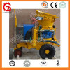 Dry mix concrete spraying machine