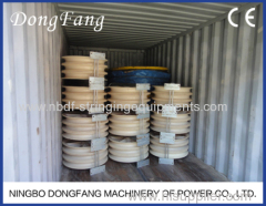 Three Bundled Conductors Running out Blockswith good quality wheels