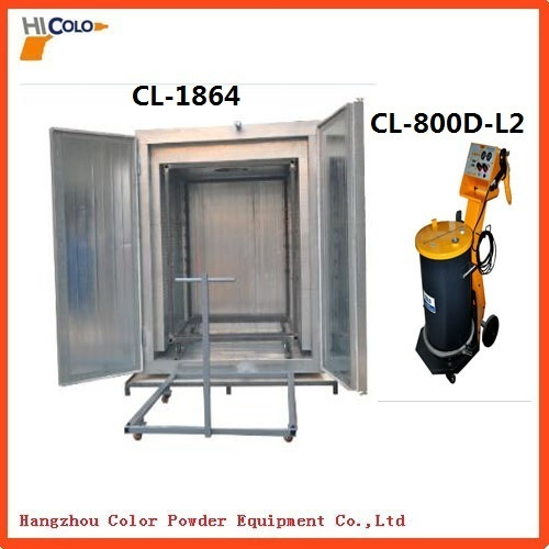 Colo1864 Electric Powder Coating Oven with trolley