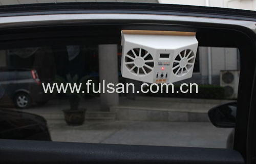 2W solar power car fan