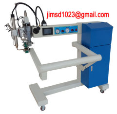 Hot air welding machine for tarpaulin
