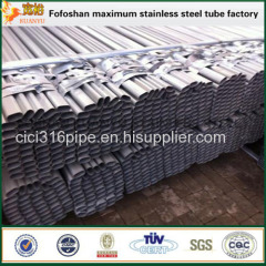 Polished Stainless Steel Oval Slotted Pipe For Construction