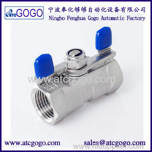"1PC Ball valve Stainless steel SS304 Small Ball Valve Female thread 1/4"" BSP 2 way valve"
