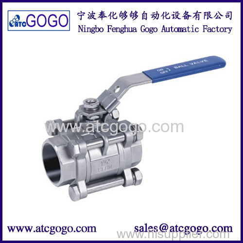 High quality three stainless steel switch ball valve 1/2 inch BSP female thread SS304 2 way water ball valve