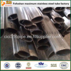 Welded Elliptical Stainless Steel Slot Pipe For Hotel Construction