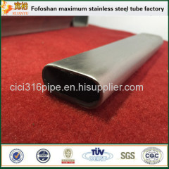 Flat Stainless Steel Oval Tube Specialty Tubing For Handrailing Used