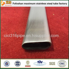 316 Material Mirror Flat Stainless Steel Oval Tube Stainless Steel Irregular Pipe