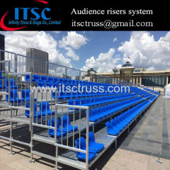 Audience risers system for outdoor events