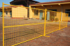 yellow powder coated 6'*9.5' coated Canada temporary fence panel