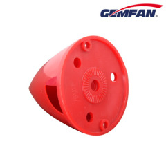 75mm red Plastic Backplate Nylon remote control plane Spinner