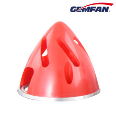 63mm red Aluminium Backplate Hollowed-out Spinner for remote control airplane model