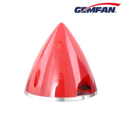 70mm Aluminium Backplate Nylon red Spinner for rc airplane