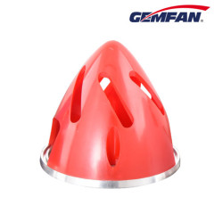 Remote Control airplane 70mm red Aluminium Backplate Hollowed-out Spinner