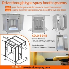 Two Options Powder Spray Booth