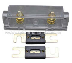 ANL Fuse Holder Inline 0 4 8 GA Gold Plated