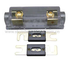 ANL Fuse Holder Distribution Inline 0 4 8 Ga Gold Plated