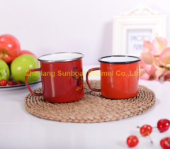 Customized Logo Printed Enamel Mug