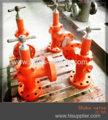 Wellhead Christmas Ajustable choke valve API