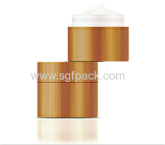 15g popular hot sale PP cream jar with bamboo packaging