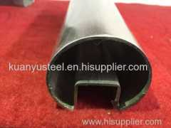 Produce SS304 316 stainless steel slotted round tube manufacturer