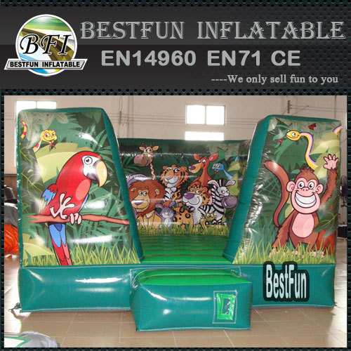 Jungle inflatable cartoon bounce