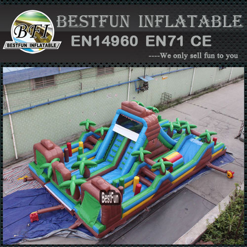 Outdoor jungle inflatable obstacle course