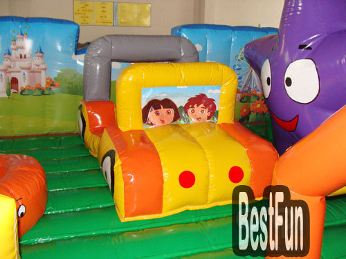 Dora and Diego Learning Adventure inflatable playground