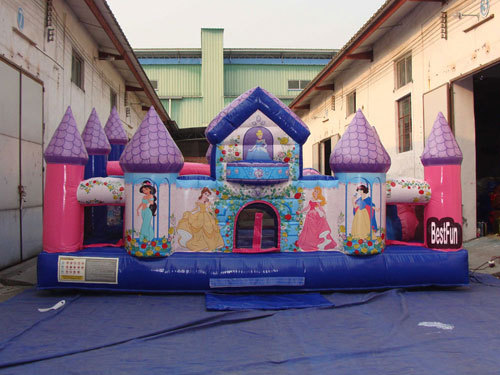 Giant Princess Palace inflatable toddler playground
