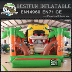 Inflatable tiger auto mouth playground