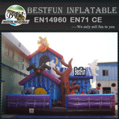 Portable inflatable halloween haunted house
