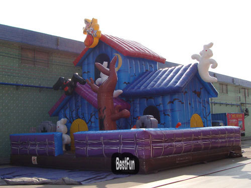 Inflatable Monster Haunted House For Amusement