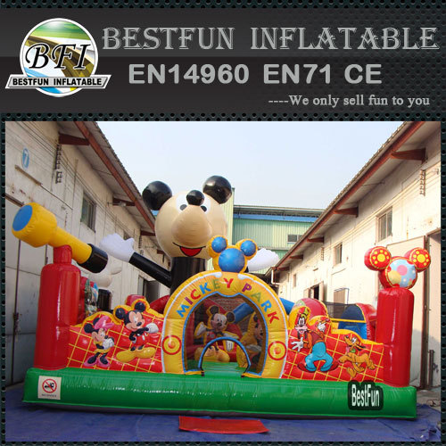 Mickey Amusemeny Park Inflatable Bouncing Castles
