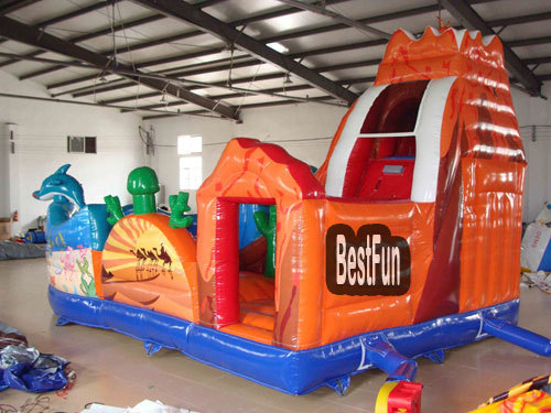 Volcano World inflatable amusement park