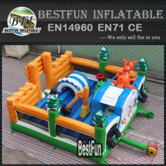 Winter christmas theme inflatable park