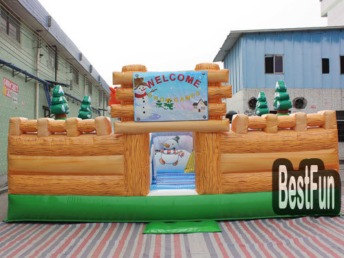 Winter theme inflatable jumping playground