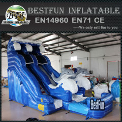 Mini water dolphin inflatable pool slide
